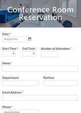 These things are available for free download and rigorous customizations. Conference Room Reservation Form Template Formsite