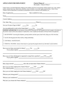 Charter Fitness Job Application Form