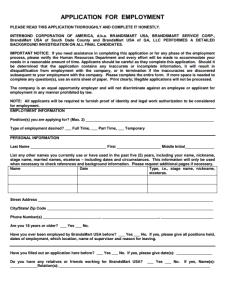 Brandsmart Job Application Form