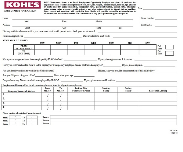 photograph relating to Kohls Printable Applications called Kohls Activity Software package Kind