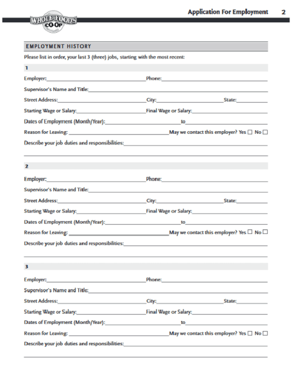 whole foods job application form