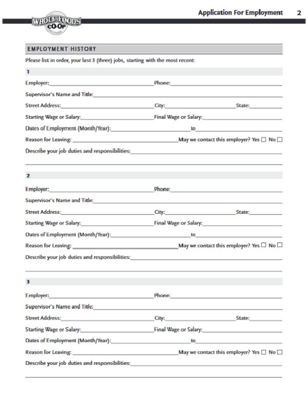 whole foods job application form