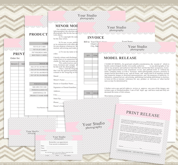 Free Photography Business Forms