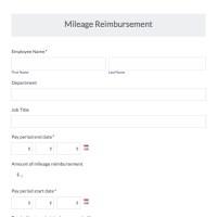 Mileage Reimbursement Form Template. mileage reimbursement ...