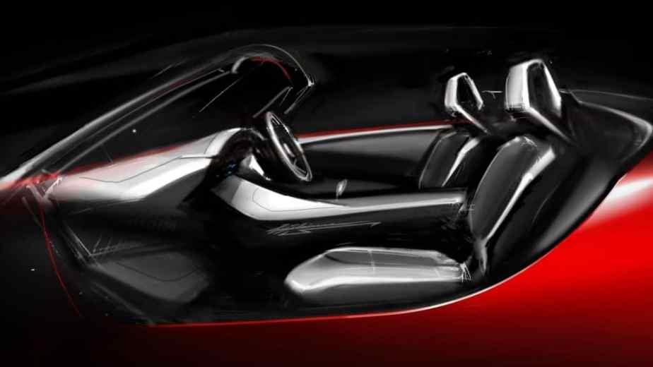 Mazda MX-5 (ND) interior design sketch
