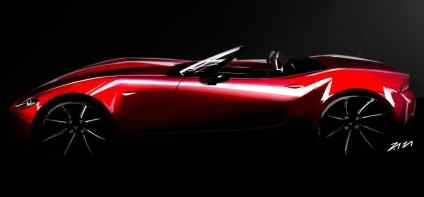 Mazda MX-5 exterior sketch