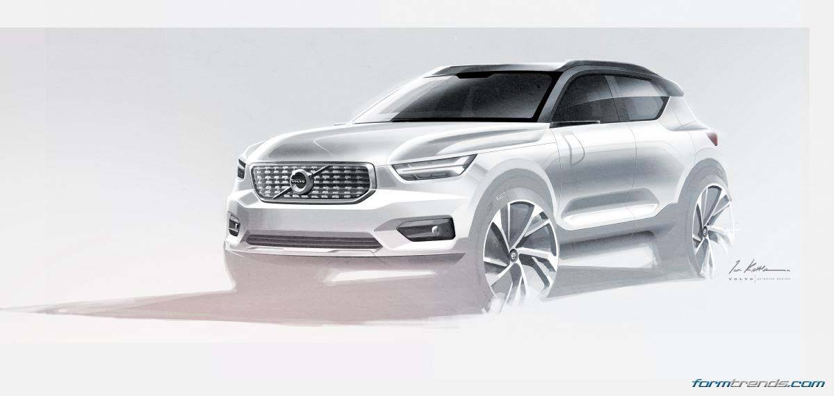 Volvo XC40 sketch by lead exterior designer Ian Kettle