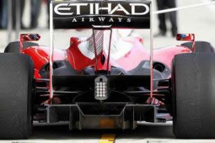 diffuser on Ferrari f10 - 2010