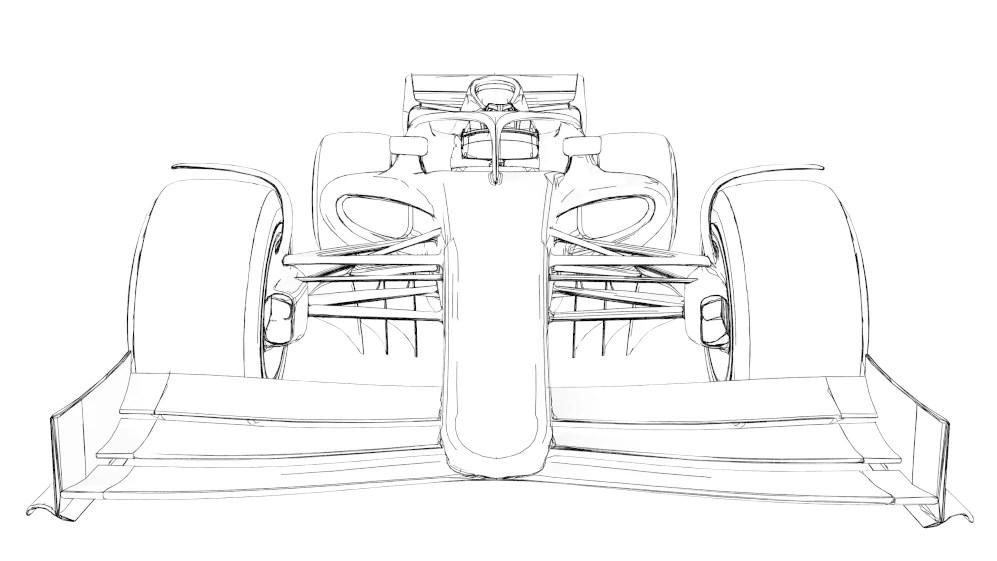 Formula 1 Car Blueprints