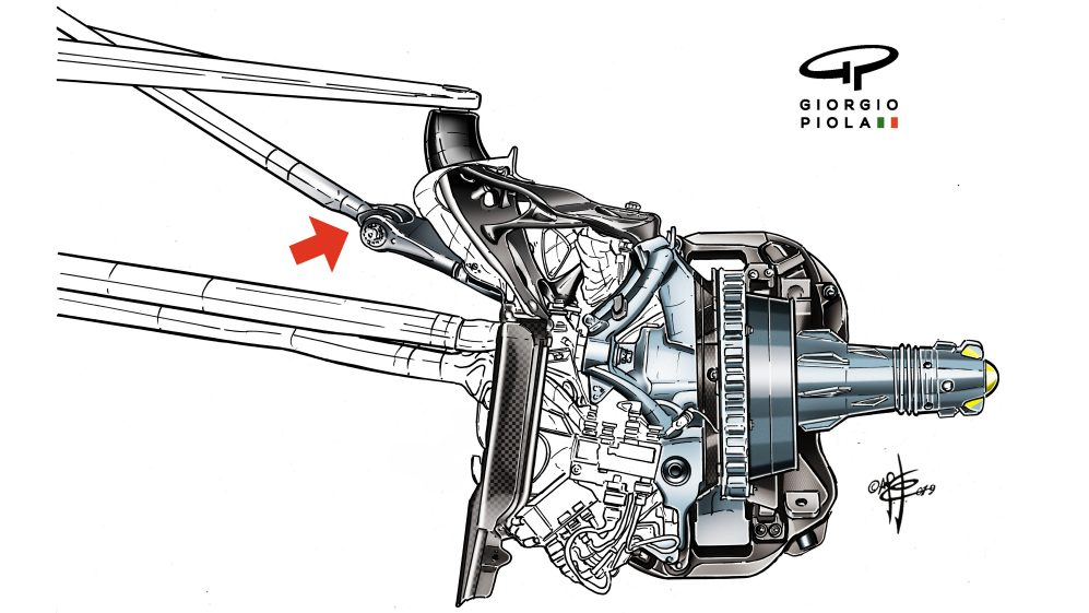 The clever suspension development which Ferrari introduced