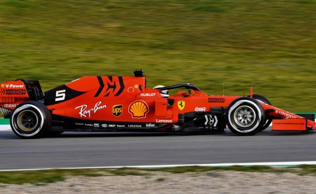 F1 Pre Season Testing Vettel Heads Sainz At The End Of