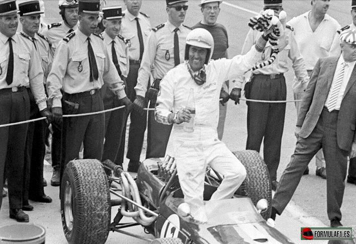 El ganador Jack Brabham. GP Francia 1966