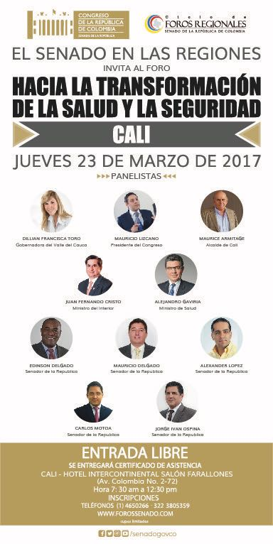 Panelistas dialogos con los vallecaucanos - Formula Medica