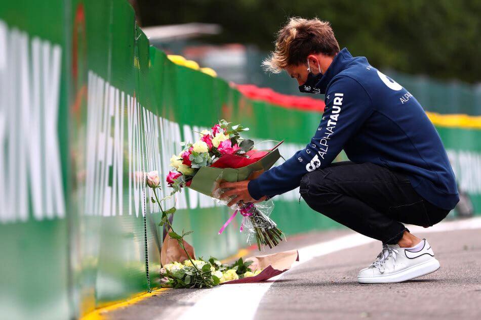 Pierre Gasly recuerda a Hubert a un año de su fatídico accidente