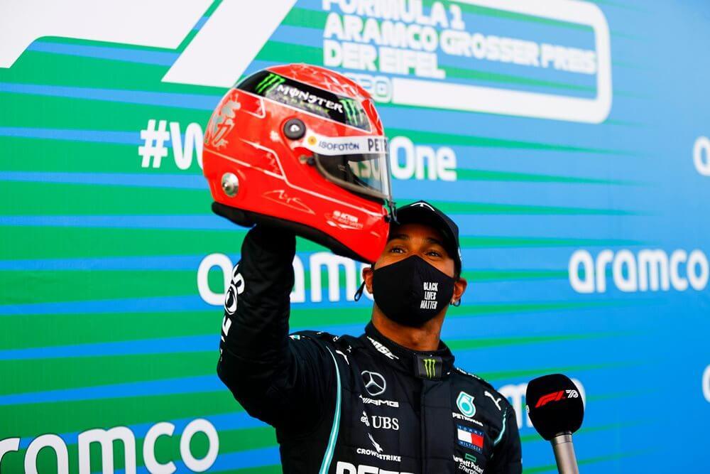¡Hamilton gana en el Gran Premio de Eifel e iguala el récord de 91 victorias de Michael Schumacher!