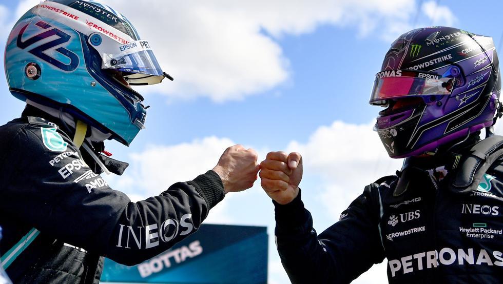 """Lewis Hamilton defiende a Valtteri Bottas: """"Tenemos la mejor dupla de pilotos"""""""