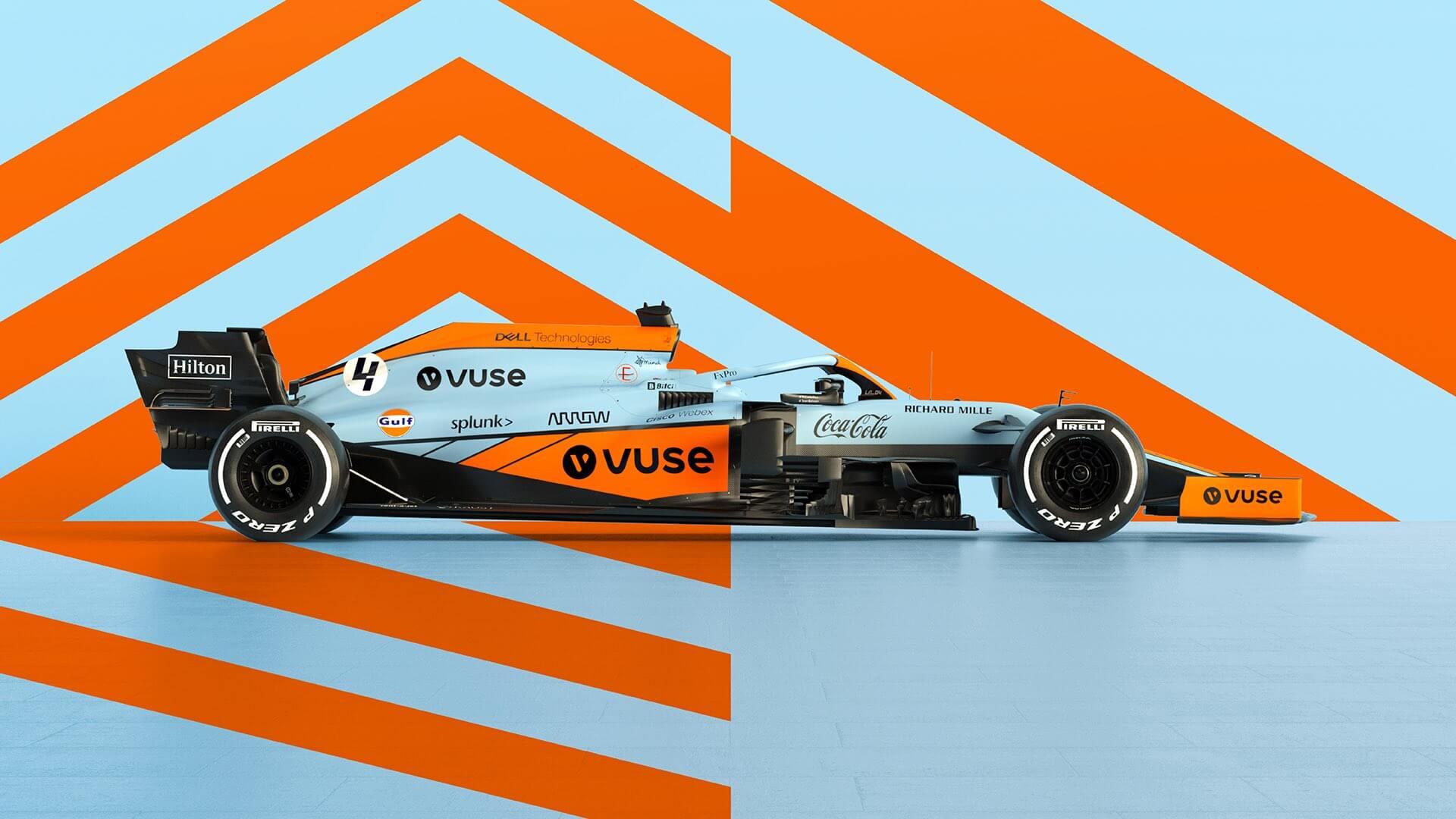 McLaren presenta una decoración vintage que utilizará en el GP de Mónaco