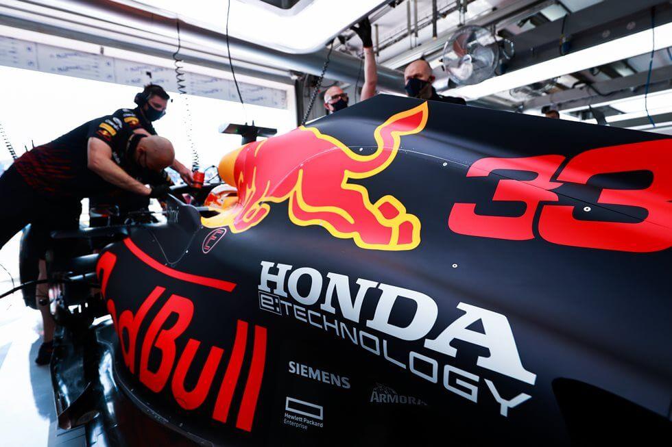 Red Bull confirma que Honda logró salvar el motor con el que se accidentó Verstappen en Silverstone