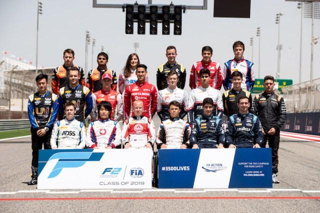 Pilotes engagés pour Le championnat FIA Formule 2 2019