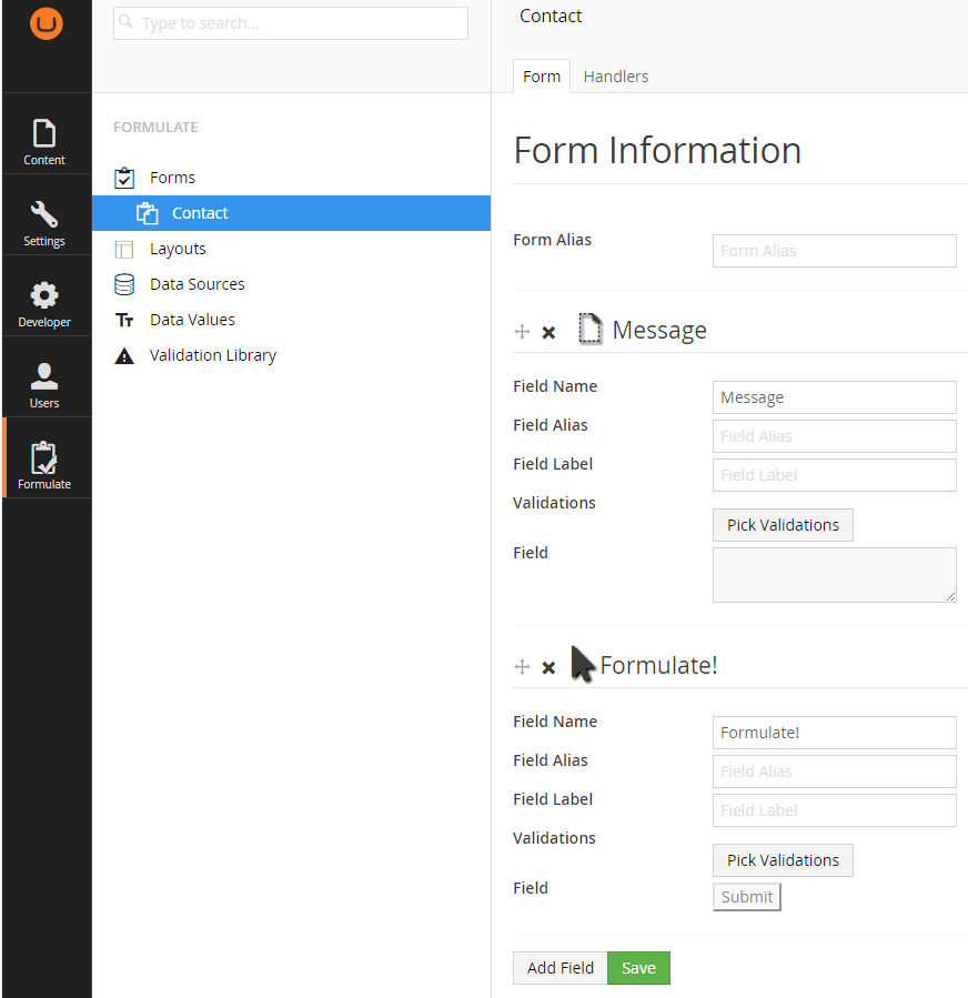 Creating a Simple Form in Formulate