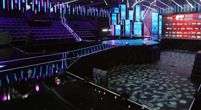 The set of 'operación Triunfo 2020', totally empty