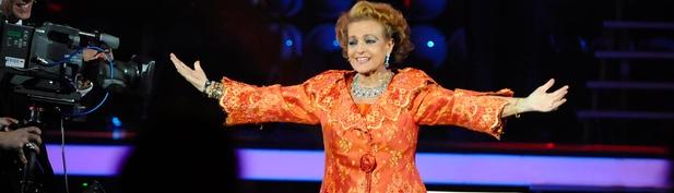 Carmen Sevilla, en su homenaje durante la gala aniversario de Telecinco