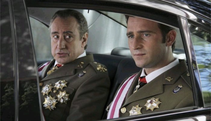 Juanjo Puigcorbé en la serie 'Felipe y Letizia'