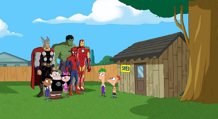 Phineas y Ferb conocieron a algunos de los héroes de Marvel