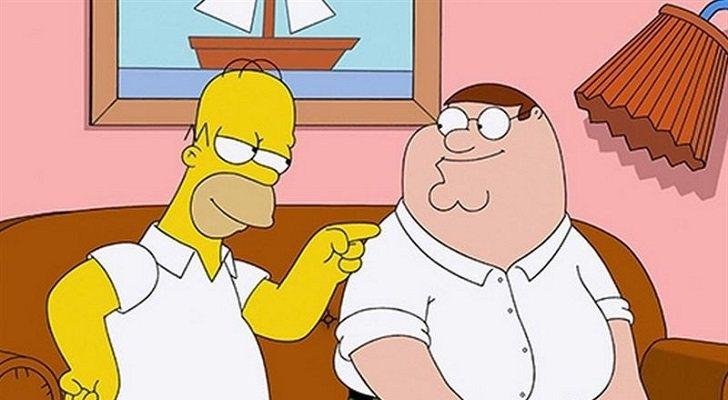 Homer y Peter juntos en el crossover entre 'Padre de familia' y 'Los Simpson'