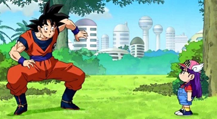 Goku y Arale en el crossover de 'Dragon Ball' y 'Dr. Slump'