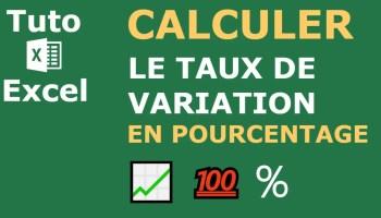 Comment Calculer Un Taux De Variation En Pourcentage Sur Excel
