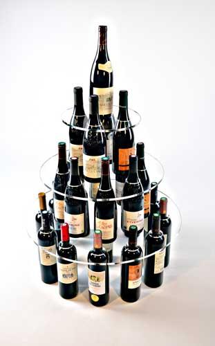 support bouteilles plexi