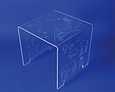 table pont plexiglas enfant