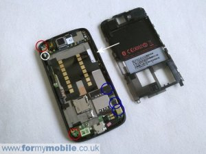 HTC Desire disassembly, screen replacement and repair