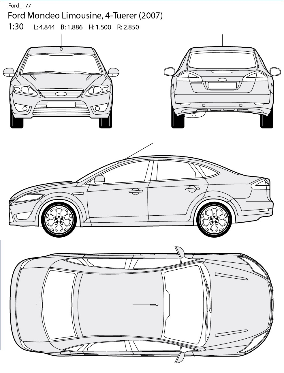Blueprint Ford Mondeo 2007