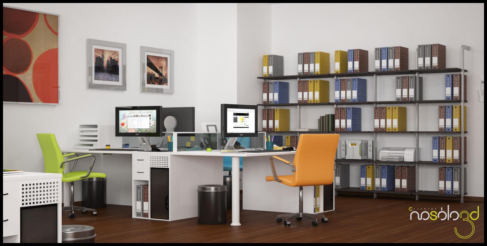 Oficina con cuatro ambientes