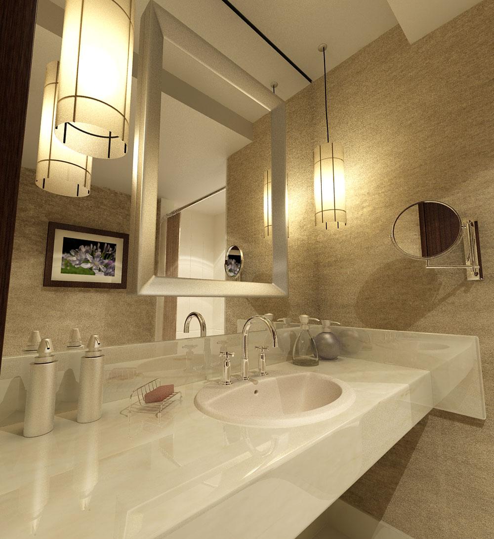 Bao de hotel realizado con vray