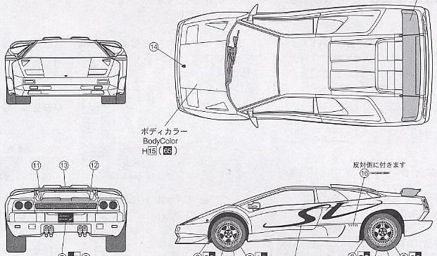 [Blueprint] Lamborghini Diablo SV 1998