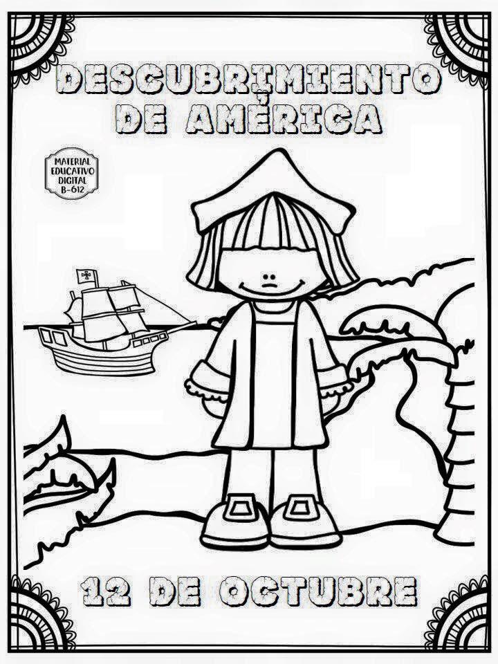 Dibujos Para Colorear De Descubrimiento De America