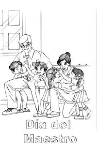 Imagenes Para Colorear Dia Del Maestro Dibujos Para El Da Del