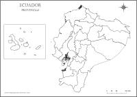 Mapa del Ecuador para Colorear - Mapa por provincias ...