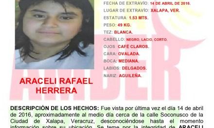 Activan Alerta Amber por desaparición de menor de 14 años, en Xalapa