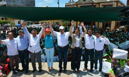 Héctor Yunes y Michelle Gustin,  en unidad para mejorar Veracruz y el Tercer Distrito