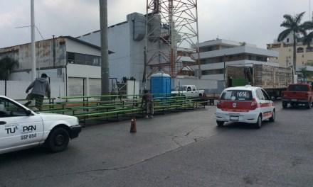 Inicia instalación de gradas para el Carnaval Tuxpan 2016