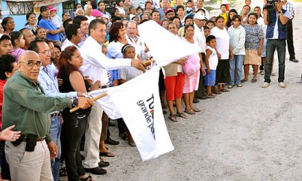 Inicia ASR obra pública con recursos donados por PEMEX en Alto Lucero