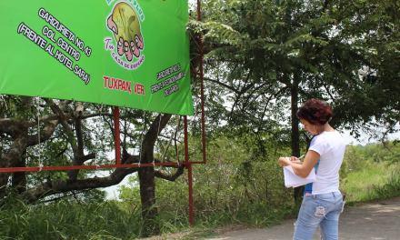 Ayuntamiento de Tuxpan Retira Publicidad de Camellones y Postes