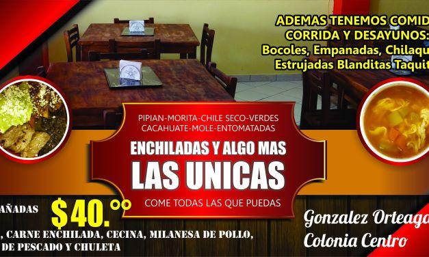 ENCHILADAS Y ALGO MAS… LAS UNICAS