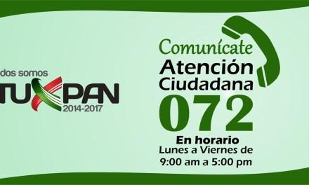 Ayuntamiento de Tuxpan Activa Línea de Atención Ciudadana