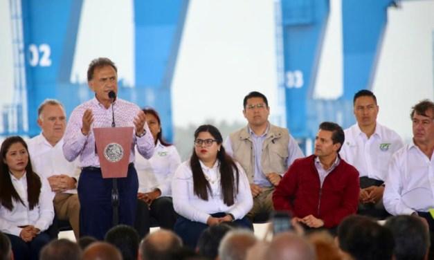 Con el nuevo Puerto de Tuxpan se generarán miles de empleos para los veracruzanos del norte del Estado: Gobernador Yunes