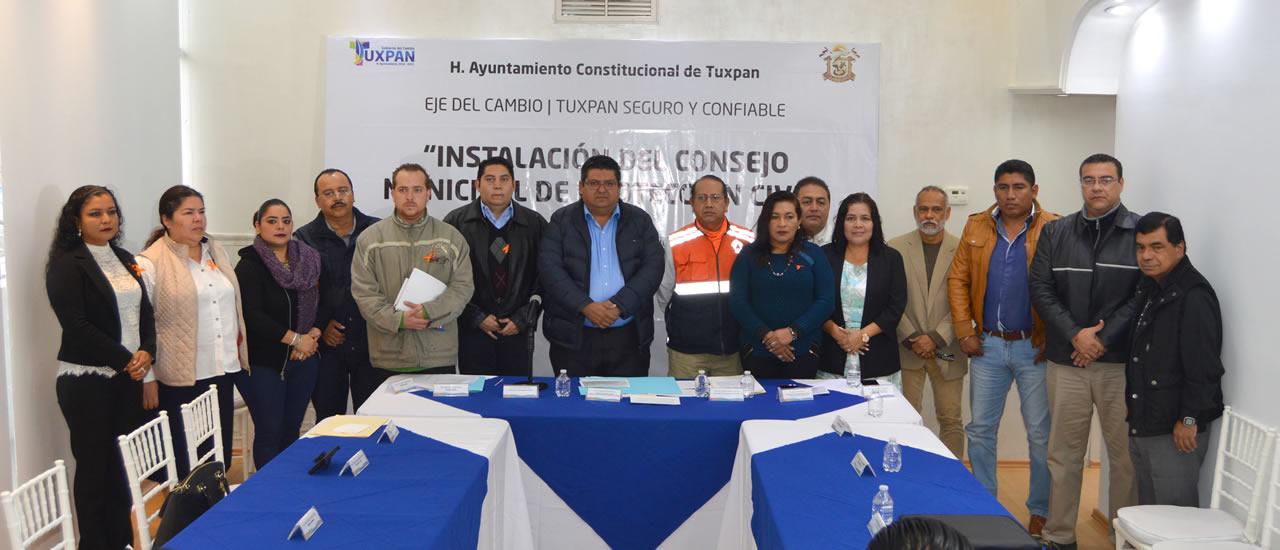 Rinden protesta Consejo Municipal de Protección Civil